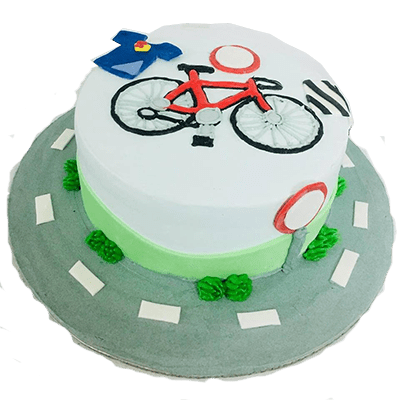 red mack one birthday cake