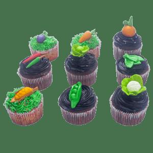 Vegetables Cupcake