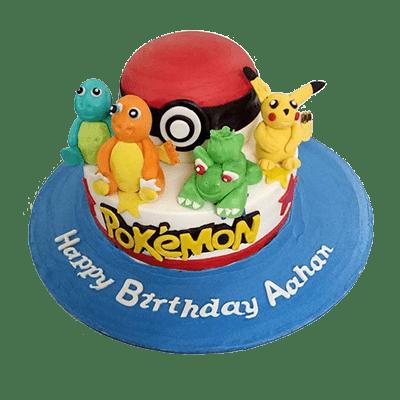 Pokemon character birthday cake