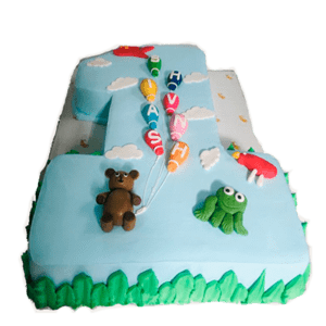 number shape birthday cake type two