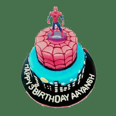 Awe Inspiring Spider Man Birthday Cake Taubys Home Bakery Nagpur Funny Birthday Cards Online Barepcheapnameinfo