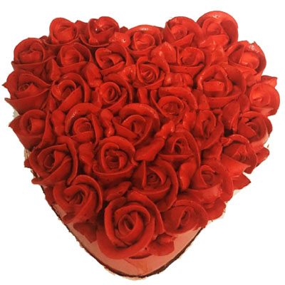 Awesome Red Rose Heart