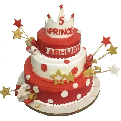 sparkilng star birthday cake