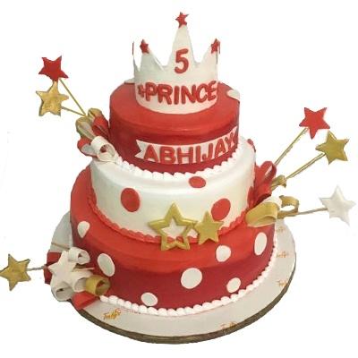 sparkilng star birthday cake