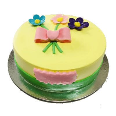 baby flower birthday cake