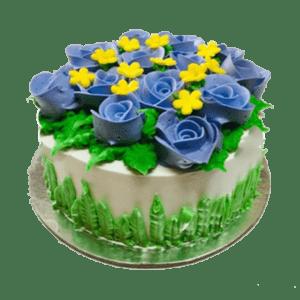 Voilet Roses birthday cake