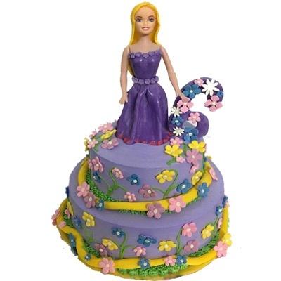 violet barbie cake