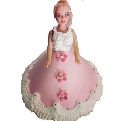 Pink barbie birthday cake