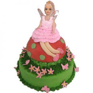 Small Pink-Fairy Birthday Cake