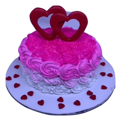 Heart to Heart Cake for Couples