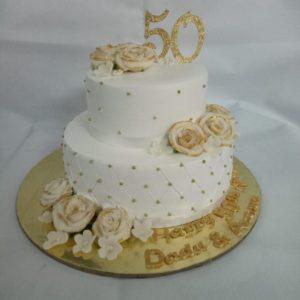 Pineapple Anniversary Cake