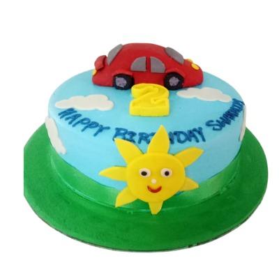 Kids Car and Sun Cake
